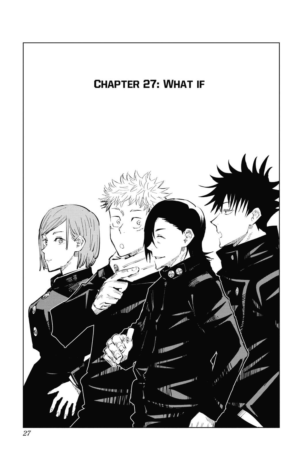 Jujutsu Kaisen, Chapter 27 image 001