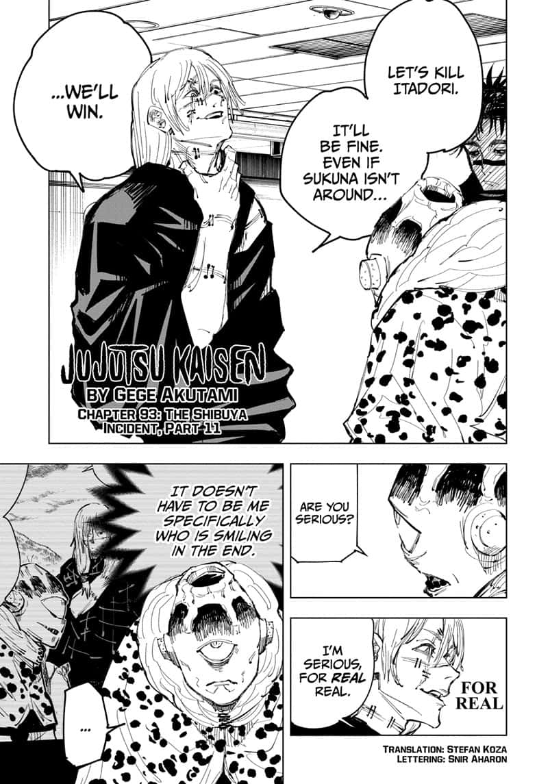 Jujutsu Kaisen, Chapter 93 image 001