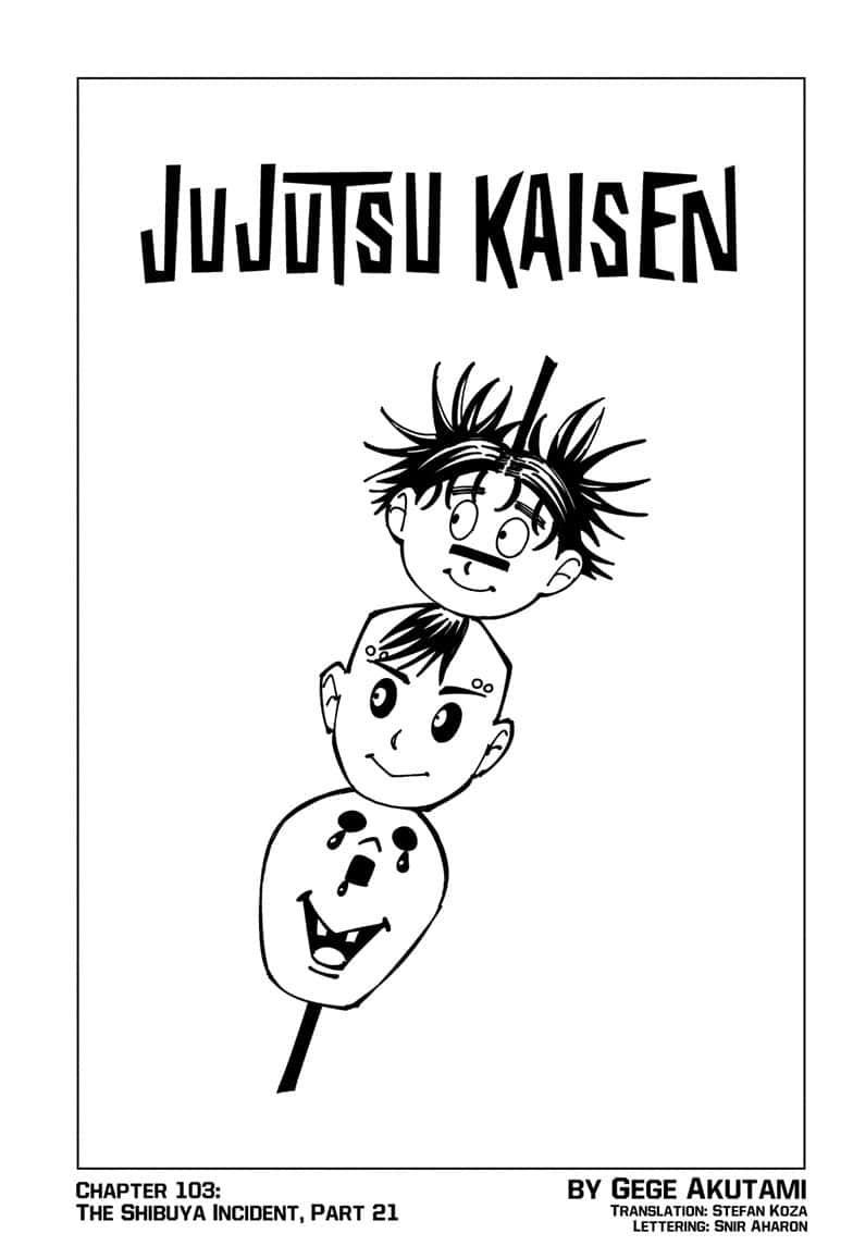 Jujutsu Kaisen, Chapter 103 image 001