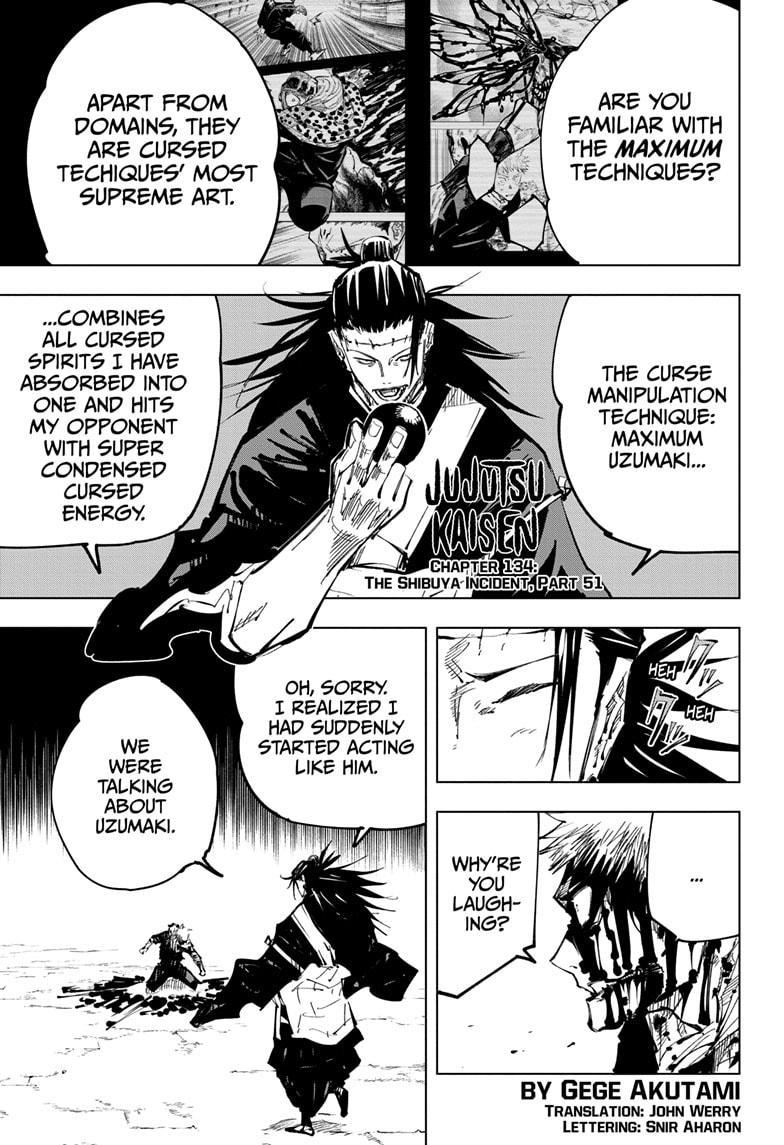 Jujutsu Kaisen, Chapter 134 image 001