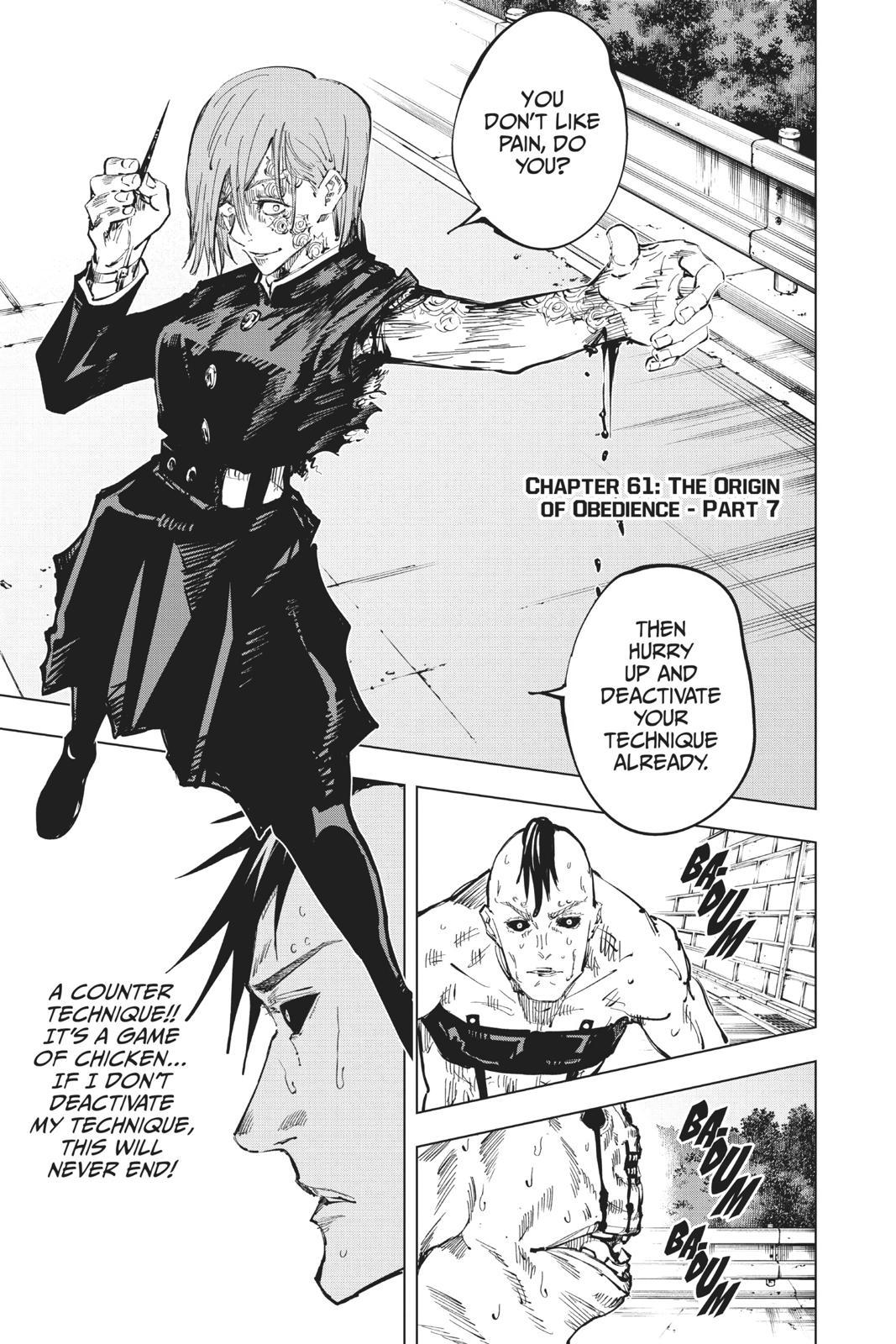 Jujutsu Kaisen, Chapter 61 image 001