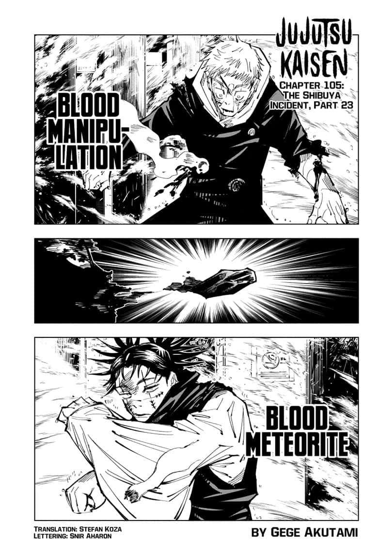 Jujutsu Kaisen, Chapter 105 image 001