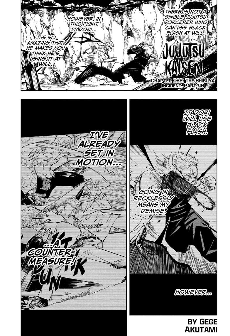 Jujutsu Kaisen, Chapter 132 image 001