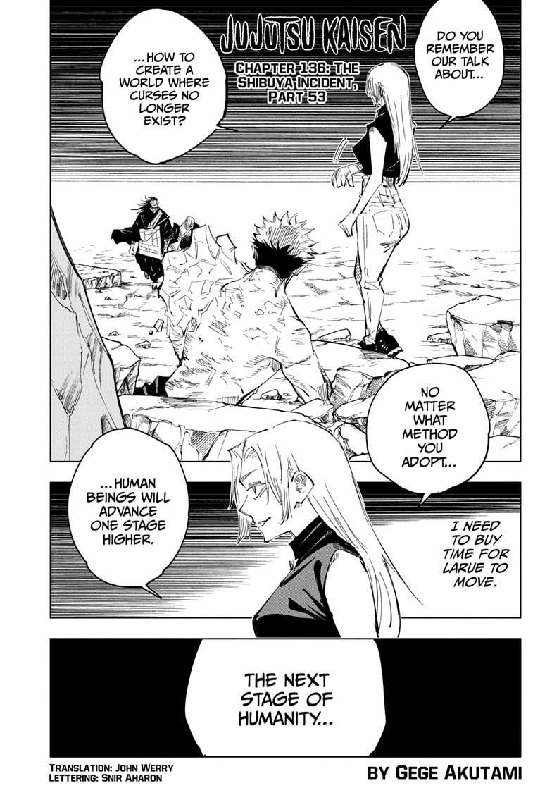 Jujutsu Kaisen, Chapter 136 image 001