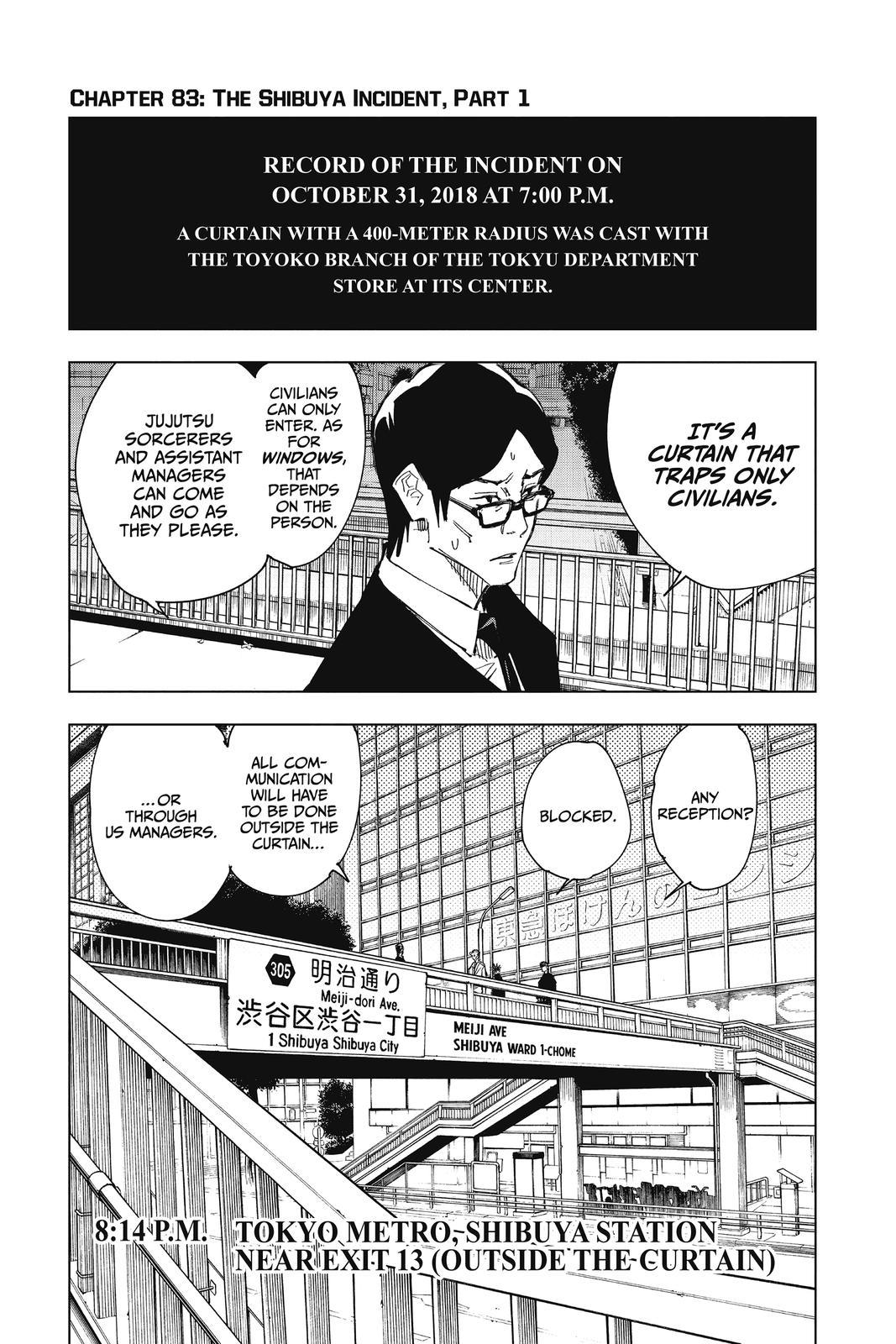 Jujutsu Kaisen, Chapter 83 image 001