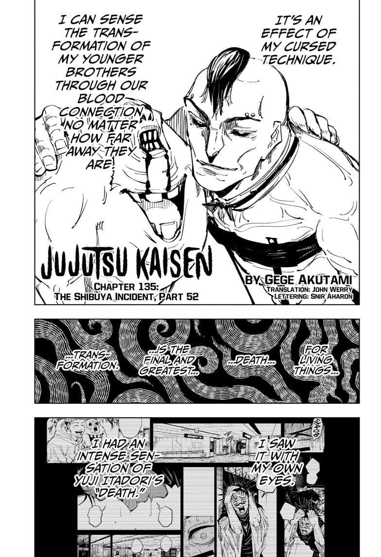 Jujutsu Kaisen, Chapter 135 image 001