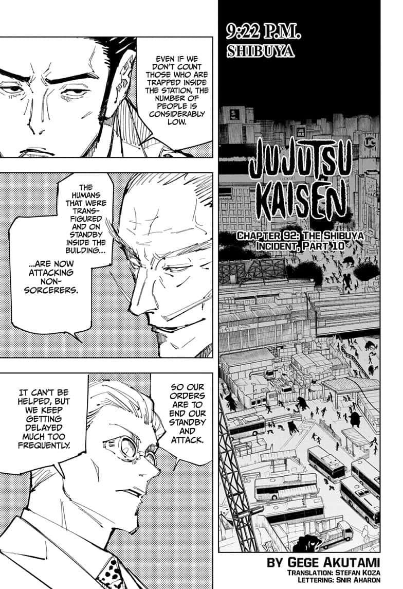 Jujutsu Kaisen, Chapter 92 image 001