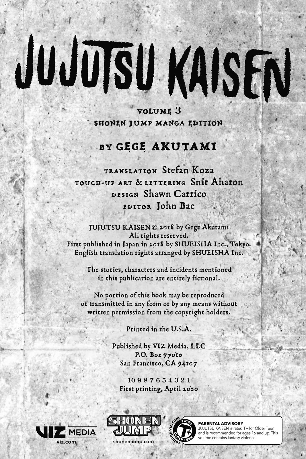 Jujutsu Kaisen, Chapter 17 image 003